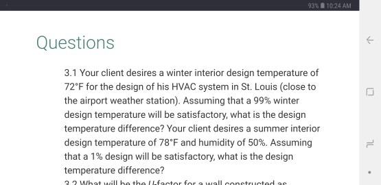 93%, 10:24 AM Questions 3.1 Your Client Desires A Winter Interior Design