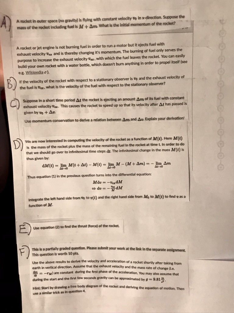 Solved: There Are 6 Parts To This Question  Please Label E