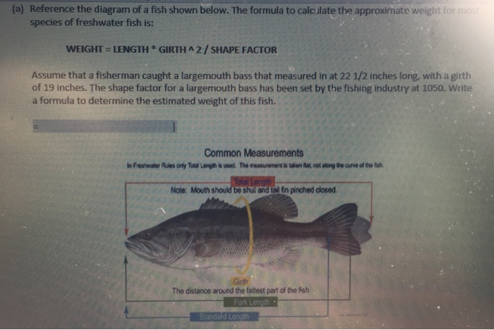 Solved A Reference The Diagram Of A Fish Shown Below T