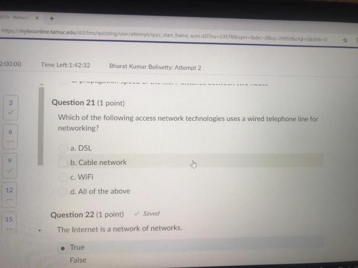2019 -Networx+ https//myleoon nline.tamuc.edu/d2/ms/quizzing/user/attemp/quiz start, frame auto d2Pou 235788uisprv &udrc-08qi