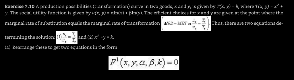marginal rate of transformation equals marginal rate of substitution