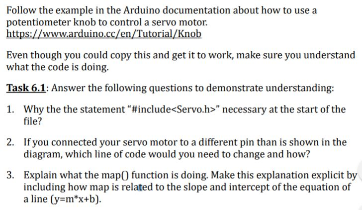 Follow The Example In The Arduino Documentation Ab    | Chegg com
