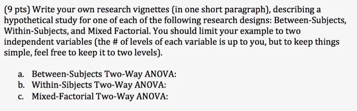 Solved: Write Your Own Research Vignettes (in One Short Pa