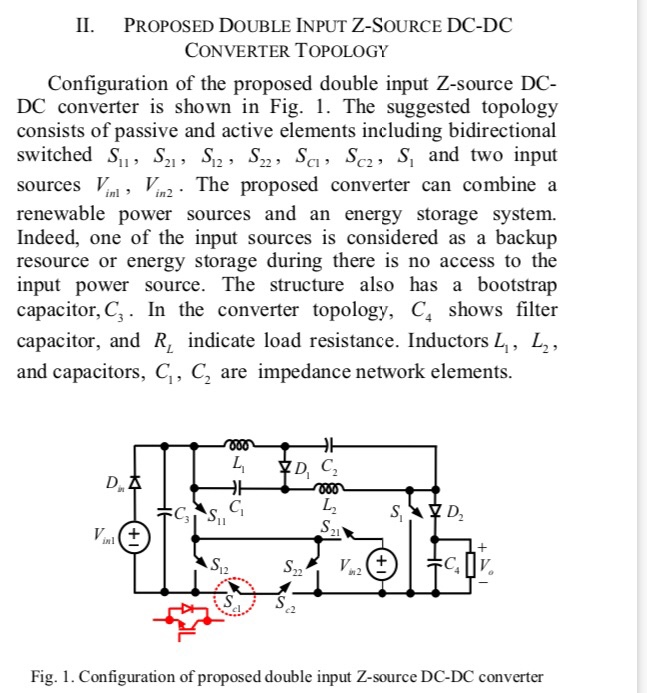 Solved: IL PROPOSED DOUBLE INPUT Z-SOURCE DC-DC CONVERTER