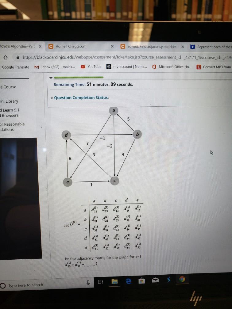 Solved: × | ESoiveu  Find Adjacency Matrices: X Represent