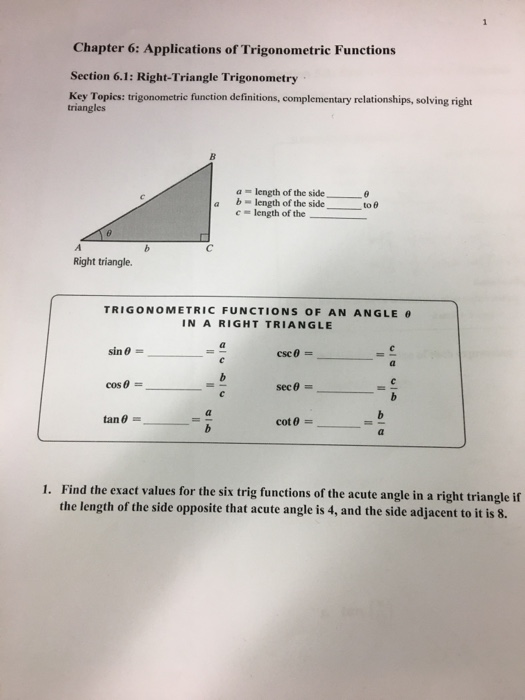 Solved: Chapter 6: Applications Of Trigonometric Functions ...