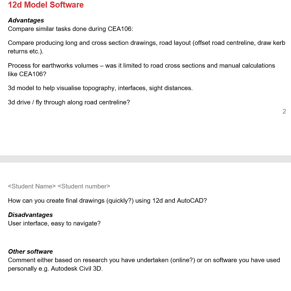 12d Model Software Advantages Compare Similar Task      Chegg com