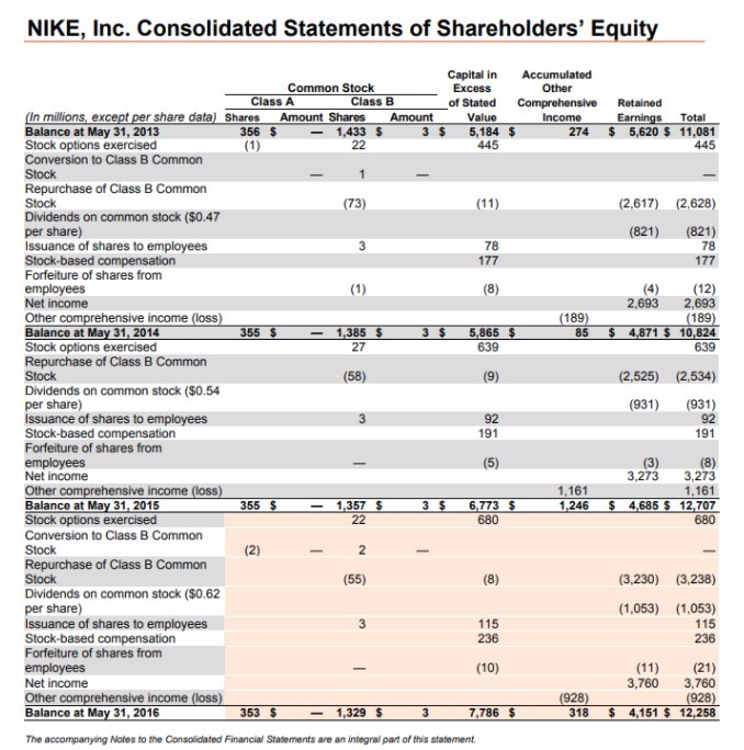 motor Guerrero ligeramente  Solved: The Financial Statements For Nike, Inc., Are Prese... | Chegg.com