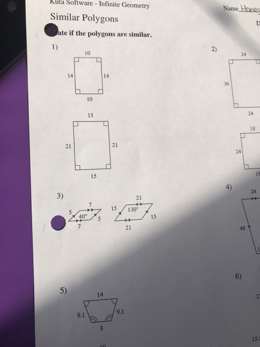 Solved Kuta Software Infinite Geometry Name Hocs Similar Chegg Com