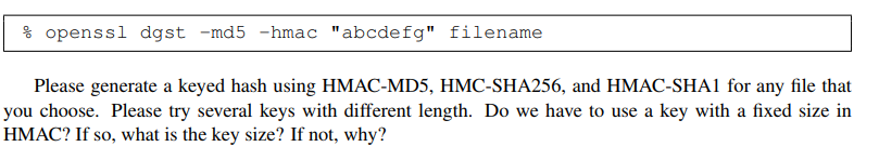 Solved: 3 2 Task 2: Keyed Hash And HMAC [9 Pts] In This Ta