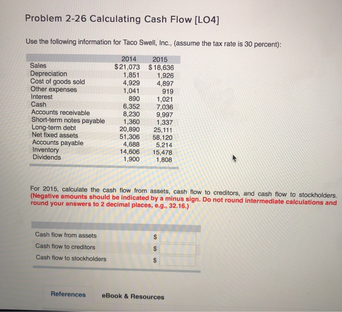 Solved problem 2 26 calculating cash flow lo4 use the f expert answer fandeluxe Gallery