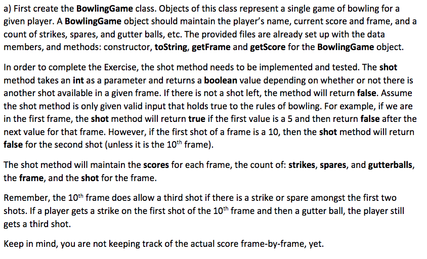 Solved: Main Code: Public Class BowlingGame { Private Stri