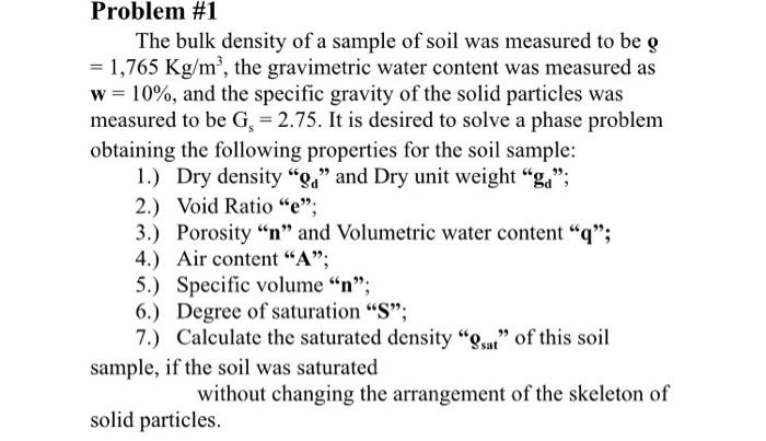 volumetric water content formula