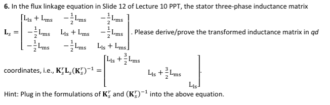 6  In The Flux Linkage Equation In Slide 12 Of Lec