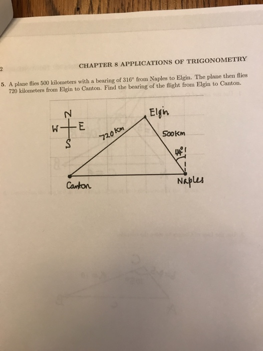 Solved: CHAPTER 8 APPLICATIONS OF TRIGONOMETRY 5  A Plane