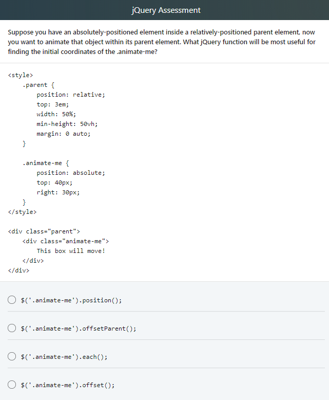 Solved: JQuery Assessment Suppose You Have An Absolutely-p