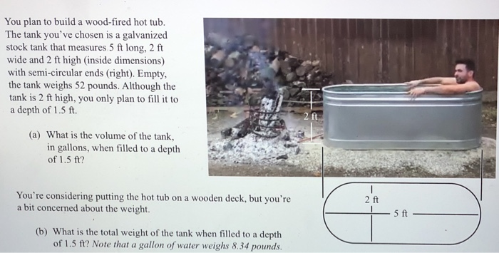 Solved You Plan To Build A Wood Fired Hot Tub The Tank Y