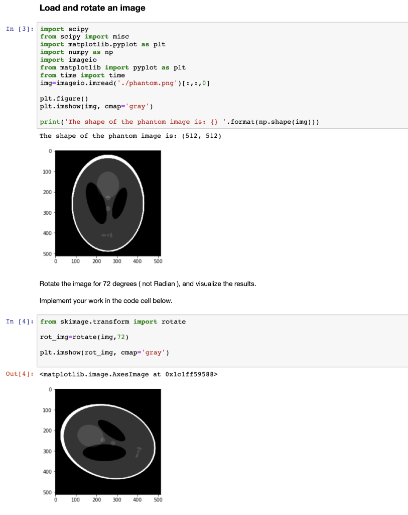 Load And Rotate An Image In [3]: Import Scipy From
