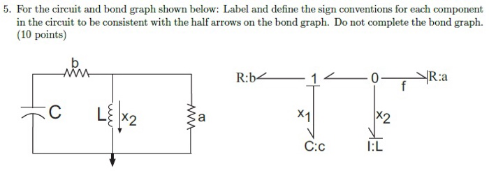 Solved: For The Circuit And Bond Graph Shown Below: Label ...