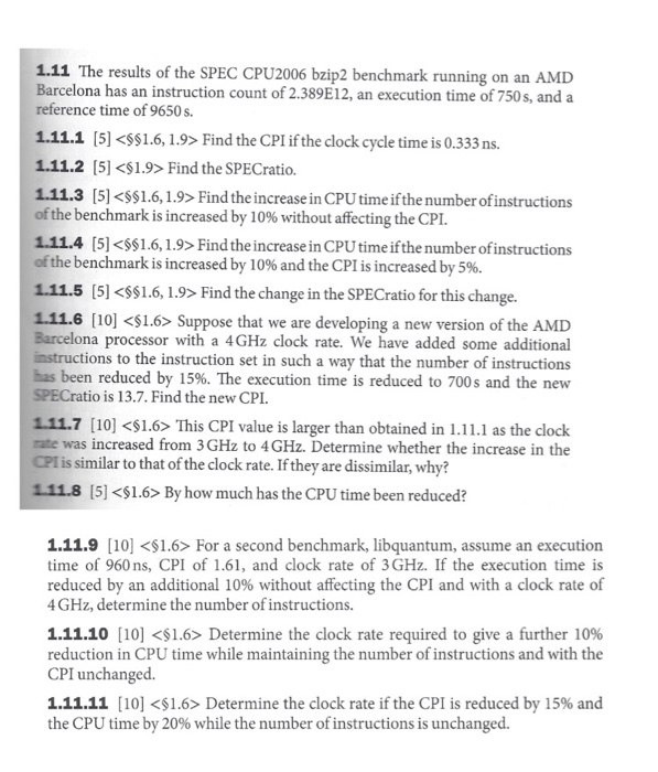 Solved 111 The Results Of The Spec Cpu2006 Bzip2 Benchma