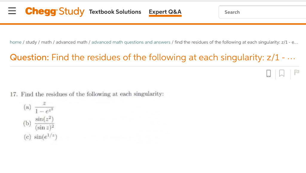 Solved: Chegg Study Textbook Solutions Expert O&A Search H ...
