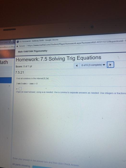 Trigonometry Archive | March 26, 2018 | Chegg.com