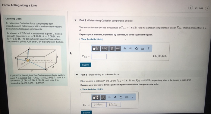 Civil engineering archive february 14 2018 chegg force acting along a line 43 of 64 learning goal part a determining cartesian fandeluxe Images