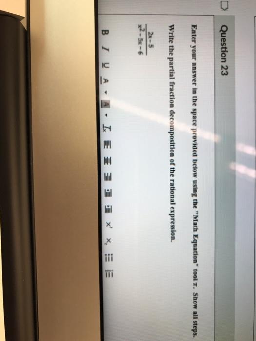 Solved: Question 23 Enter Yo