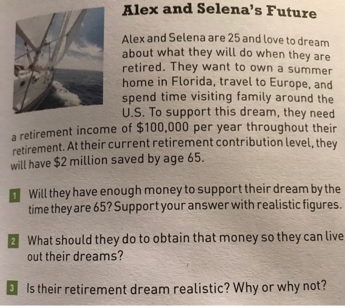4d653e85b2 Solved: Alex And Selena's Future Alex And Selena Are 25 An ...