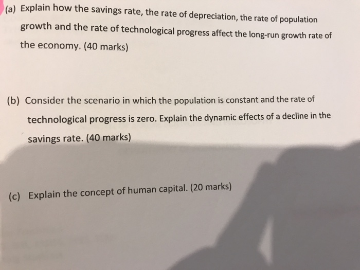 how does the rate of population growth affect economic growth
