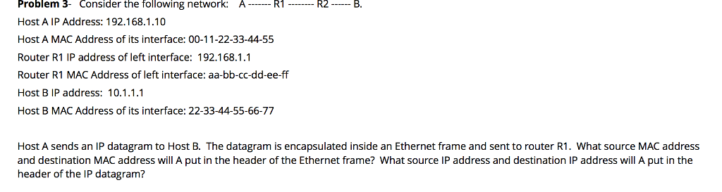 0d69fb4209e7f Consider The Fo Problem Lowing Network  A-R1- R2-B...   Chegg.com