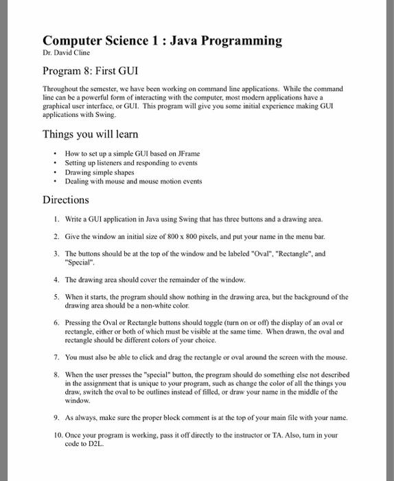 Computer science java homework help