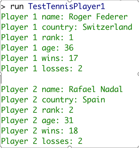 Solved: Download The File TennisPlayer java And Rename It