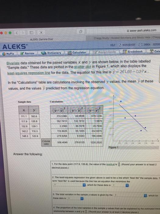 Solved: E Www-awh aleks com Chegg Study | Guided Solutions