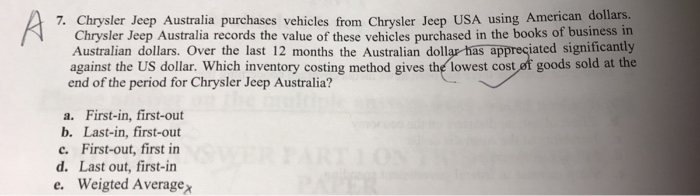 Chrysler Jeep Australia Purchases Vehicles From Usa Using American Dollars