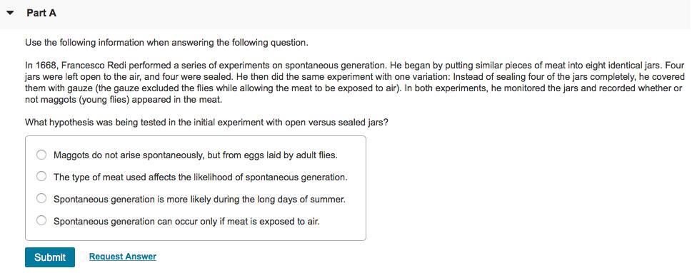 redi and spontaneous generation