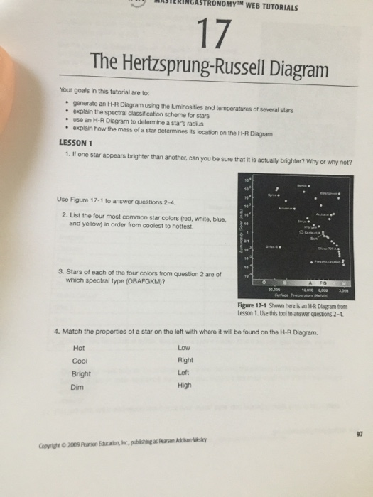 Solved illutsierinlastronomytm web tutorials the hertzspr illutsierinlastronomytm web tutorials the hertzsprung russell diagram your goals in this tutorial are to ccuart Choice Image