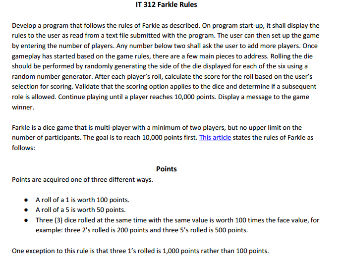 photograph relating to Farkle Rules Printable identify Directions in the direction of farkle