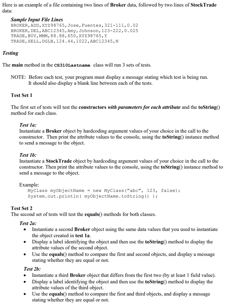 Solved Java Create Class Domains Chegg Com