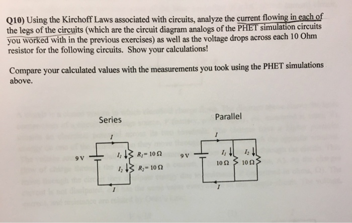 solved q10 using the kirchoff laws associated with circu rh chegg com schematic diagram exercises