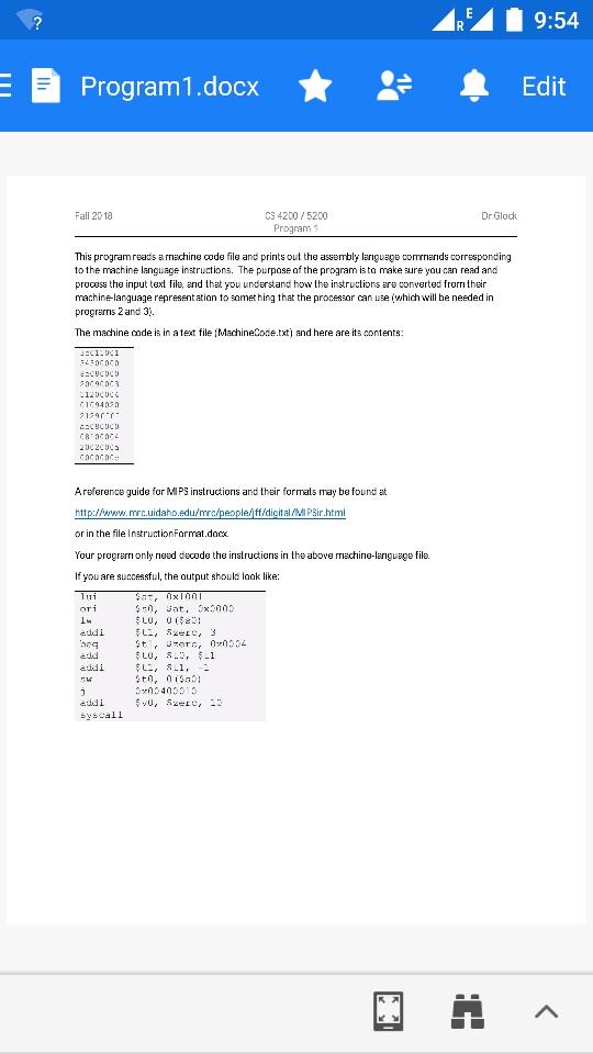 Solved: Program1 docx Edit Fall 20 18 C3 4200 5200 Program