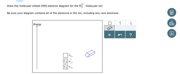 Solved Draw The Molcular Orbital Mo Electron Diagram Fo