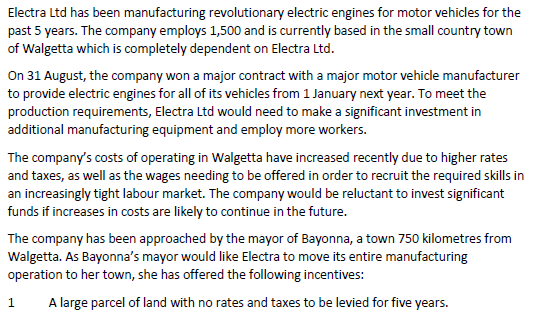 Solved: Electra Ltd Has Been Manufacturing Revolutionary E
