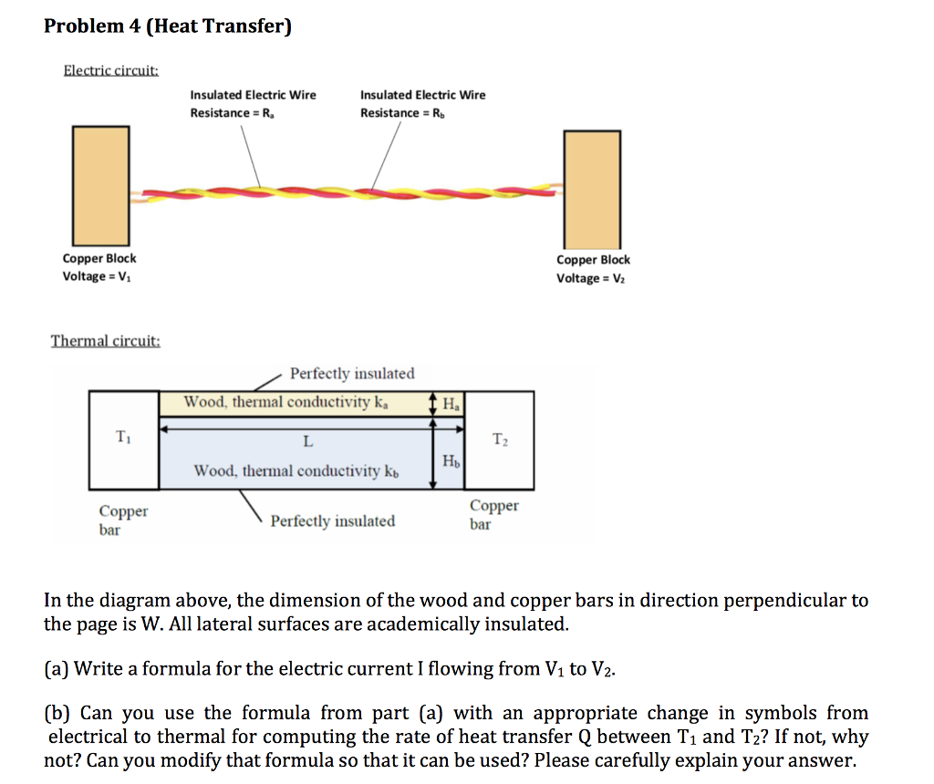 Problem 4 (Heat Transfer) Insulated Electric Wire Insulated Electric Wire  Resistance Rb Resistance R