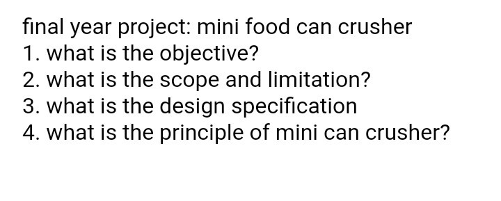 scope and limitation of the project