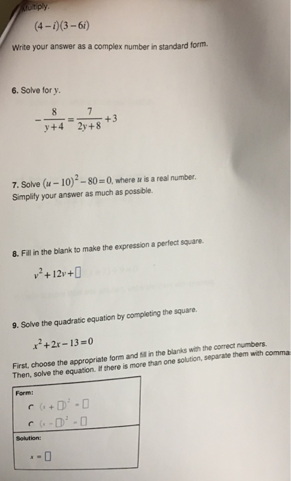 Solved Multiply 4 I 3 6i Write Your Answer As A