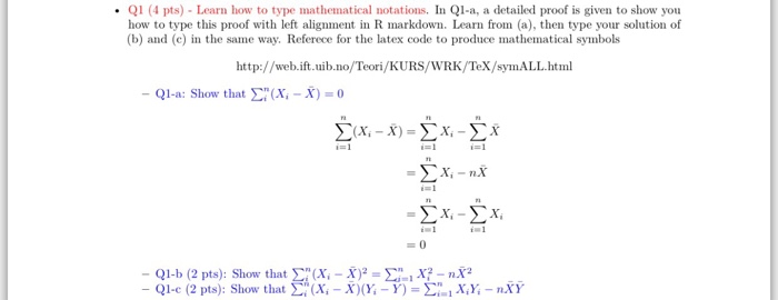 Solved: In Q1-a, A Detailed Proof Is Given To Show You How