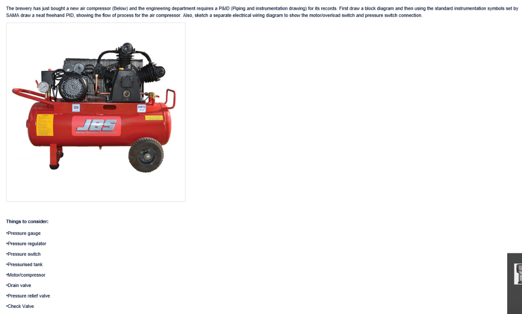 The Brewery Has Just Bought A New Air Compressor (    | Chegg com