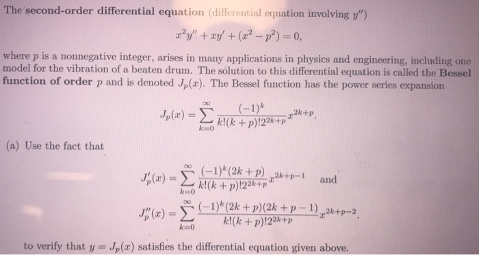 Solved: The Second-order Differential Equation (diferentia