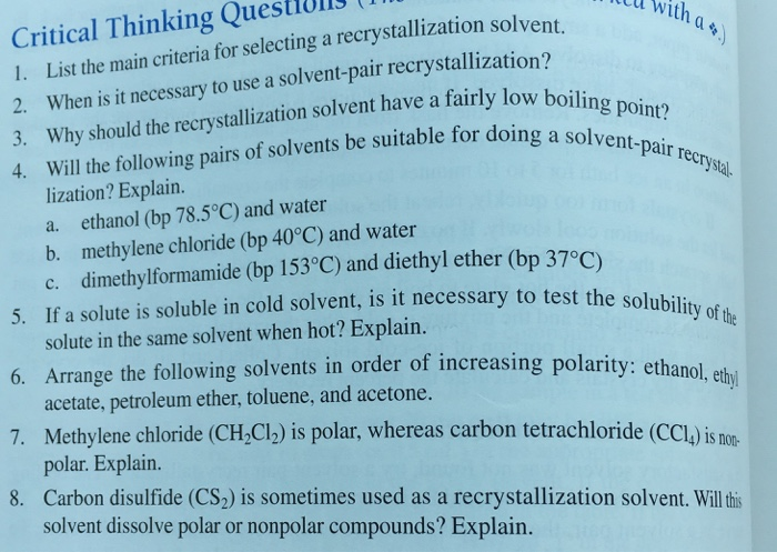 why is ethanol a good solvent for recrystallization
